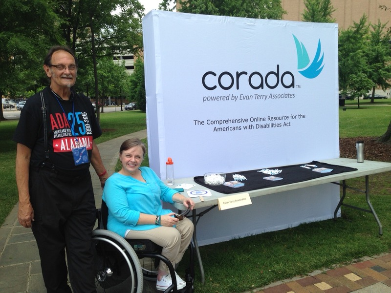 Corada booth at ADA Legacy tour stop in Birmingham, AL